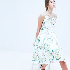 CHI CHI LONDON Brittanie Overscaled Floral Dress